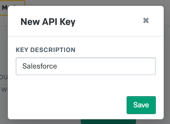 Salesforce API Key